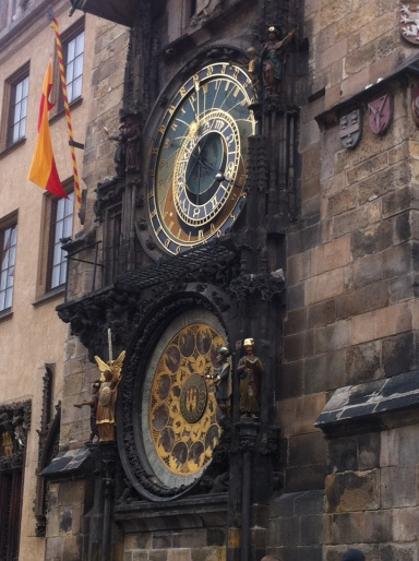 That dope astronomical clock in the town center.