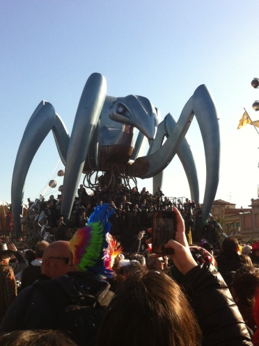 Giant robot spider. Because....Italy.