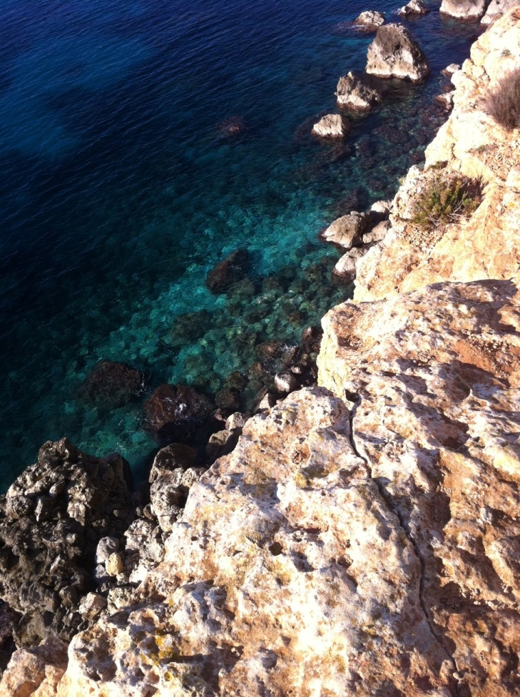 The clearest water I've ever seen.