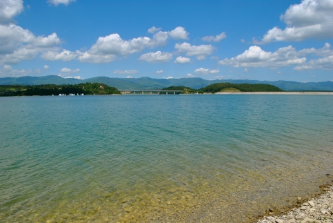 Beautiful lake in the Mugello